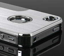 Silver Luxury Steel Chrome Deluxe Case Cover For iPhone 4 4S+ Screen Guard