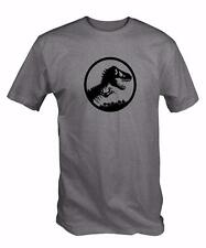 """Jurassic""  Custom World Tee  Dinosaur T-Rex Tshirt  Film Movie"