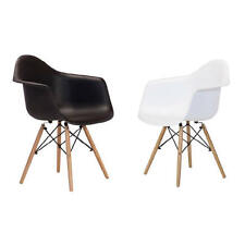 Charles Eames Style Molded Plastic DAW Dining Arm Chair, SET OF 2 Mid Century