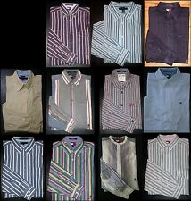 Blue Gray Pink Red M L XL Striped Tommy Hilfiger Long-Sleeve Casual Dress Shirts