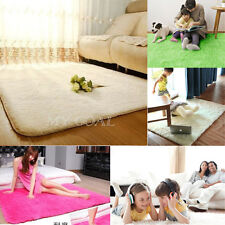 Soft Fluffy Anti-skid Shaggy Area Rug Dining Room Carpet Comfy Bedroom Floor Mat