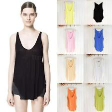 Sexy Ladies Loose Soft Casual V Neck Camisole Tank Top Vest Shirt Sleeveless