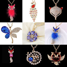 New Fashion Luxury jewelry Crystal vintage Long Pendant sweater Chain Necklace