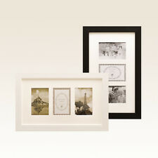 Contemporary American Style Collage Pic Photo Frame JN286 Black Collage 3 4x6