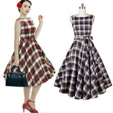 Womens Vintage Retro 50's Swing Party Pinup Rockabilly Sleevess Short Prom Dress