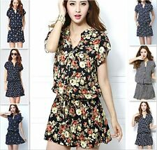Hot 2015 New Fashion Women Summer Floral Cocktail Party Evening Mini Short Dress
