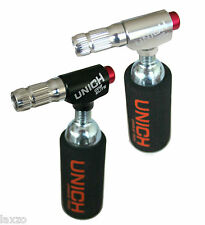 Unich CO2 Injector Elite Tyre Inflator Silver Pumps 57mm In Silver and Black