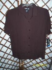Style & Co Womens top blouse Rayon crinkle cloth embroidered & sequins NWT   #B1