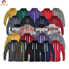 Men's Ladies ZIPPER HOODIE Hooded Top zip up Sweatshirt fleece Jacket Coat lot