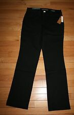NWT Misses $40 SONOMA Black Mid Rise Stretch Straight Leg Jeans ~Various Sizes~