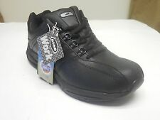 Dr. Scholl's Women's Kimberly Leather Black Oil Slip Resistant Casual Sneakers W