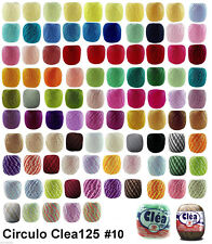 CLEA125 Crochet Soft Cotton Yarn Knitting Thread Solid Variegated #10 125m