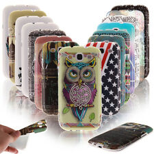 Fashion Design Pattern Soft Back Case Cover For Samsung Galaxy Phones TPU Skin
