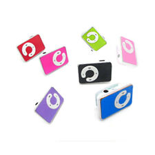 Mini 5 Colors Support Up To 8GB Mini Clip USB MP3 Player Micro SD TF Memory Card