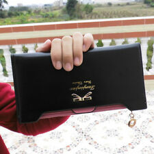 Hot Sale Cute Women Lady Leather Purse Card Money Coin Zip Bow Long Wallet New