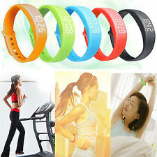 SMART SPORT TRACKING WRIST WATCH BRACELET PEDOMETER TRACKER STEP CALORIE COUNTER