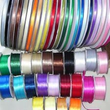 4 METRES OF DOUBLE FACE SATIN RIBBON 3MM OR 6MM (LOTS OF COLOURS TO CHOOSE)