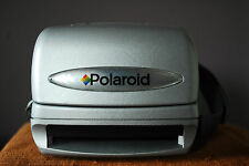 Polaroid Silver Express 600 instant camera 90s modern impossible film, macro