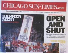 2013 Chicago Blackhawks Stanley Cup Champions Tribune or SunTimes Flag Raising