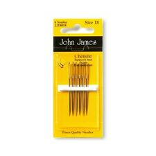JOHN JAMES CHENILLE NEEDLES - NICKEL PLATED Various Sizes