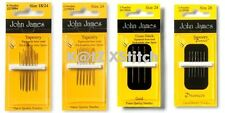 JOHN JAMES TAPESTRY / PETITES NEEDLES - GOLD / NICKEL PLATED Various Sizes