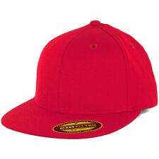 Flexfit 210 Fitted Flex Hat (Red) Men's Stretch High Crown Cap