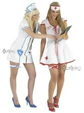 Ladies Sexy Naughty Nurse PVC Fancy Dress Costume 8-20