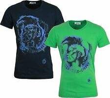 NEW MENS DIESEL T-SHIRT MAPS with Contrast Mohawk Graphic tshirt