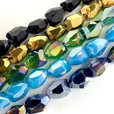 """20x15mm Crystal Faceted Nugget Beads 14"""" , pick your color"""