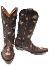 OLD GRINGO Abby Rose Chocolate Womens Cowboy Boot L664-12 Orig $595 Western Boot