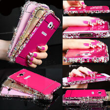 Bling Rhinestone Crystal Metal Bumper PC Back Cover Case for Samsung phones