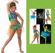 ALLEGRIA Halter Top and Shorts attached Backskirt Jazz Tap Hip Hop Dance Costume