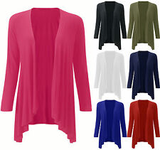 WOMEN'S LADIES VISCOSE WATERFALL DRAPE OPEN CARDIGAN TOP PLUS SIZE 16-22