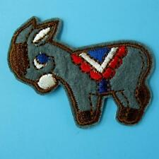 Donkey Horse Pony Iron on Sew Patch Cute Applique Badge Embroidered Animal