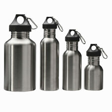 350 ML/500 ML/750ML/2000ML Stainless Steel Water Sports Bottle +Carry Carabiner