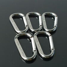 Carabiner D-Ring Camp Snap Clip Hook Buckle Keychain Keyring Hiking Climbing W56