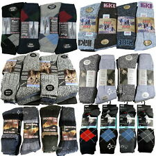 12 Mens Boot Hike Walking Argyle Wool Socks Shoe Size 6-11 Cotton Over 10 Styles