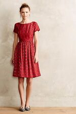 NWT ANTHROPOLOGIE by MOULINETTE SOEURS VINTAGE STYLE RUBIED LACE DRESS
