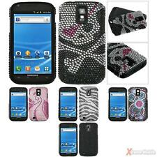 For T-Mobile SAMSUNG T989(Galaxy S II) Rhinestone Case Cover Fusion Silicone