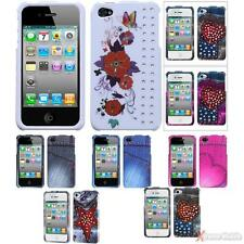 For APPLE iPhone 4/4S/4G Snap-On Hard Case Cover With Crystal