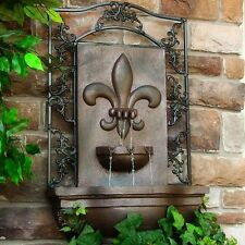 LARGE French Lily Outdoor Wall Fountain PLUS BONUS