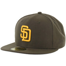 San Diego PADRES CO BR GD Brown Hat Gold Logo New Era 5950 MLB Fitted Hats Caps