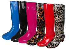 Wellington Boots for Women Printed Rain Snow Winter Boot Wellies Size 5-10