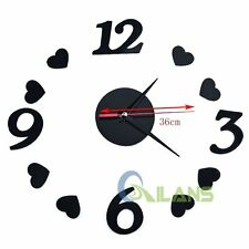 DIY Modern Heart Creative Wall Clock Room Interior Living Room Decoration Clock