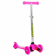 Kids Mini Scooter with Flashing Wheels Adjustable Height