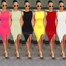 Chic Womens Bandage Bodycon Asymmetric Evening Sexy Party Cocktail Mini Dress