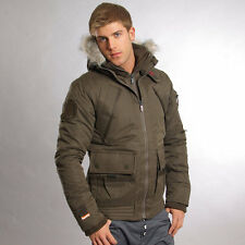 BNWT Men's Superdry Beta Parka Jacket Coat Green Large L RRP £249.99
