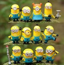 12pcs Cute Despicable Me 2 Minions Movie Character Figures Doll Toy Gift Set New
