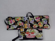 US Handmade Sugar Skulls Day of Dead Small Wristlets, Cosmetic Bags  NWOT