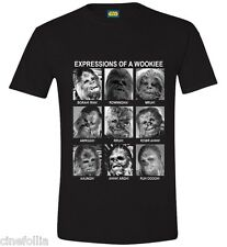 T-Shirt Star Wars Chewbacca Wookiee expressions maglia Uomo ufficiale Timecity